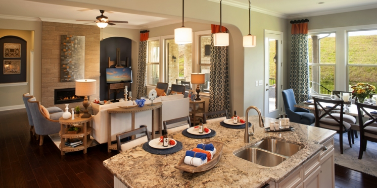 Harper Kitchen Open to Family Room