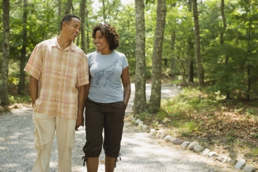 AA couple walk trail