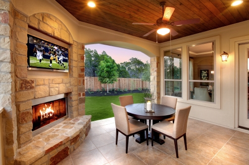 Colton cover patio with fireplace