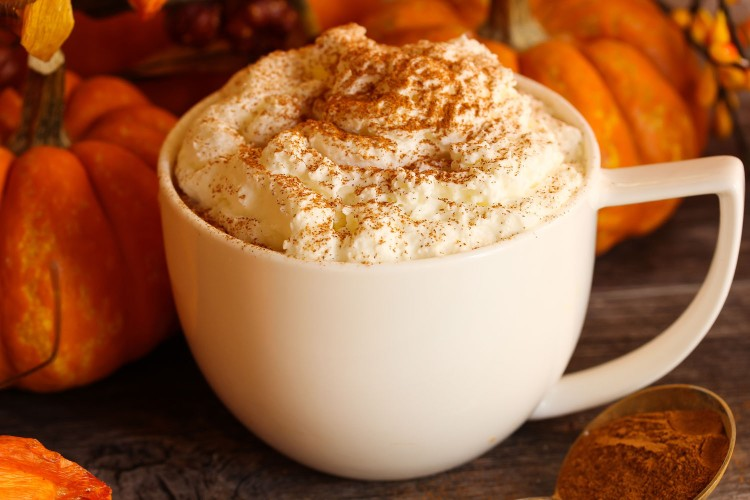 Pumpkin Spice latte for fall and winter weather