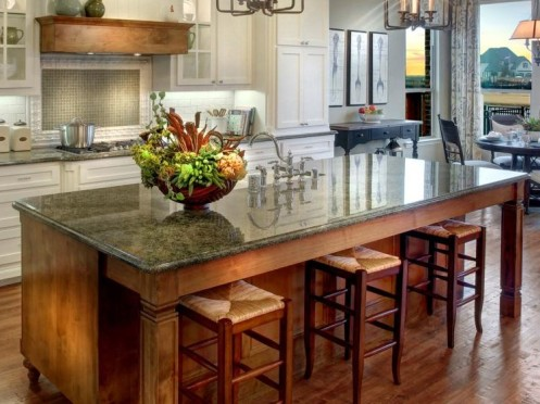 Farmhouse table style kitchen island