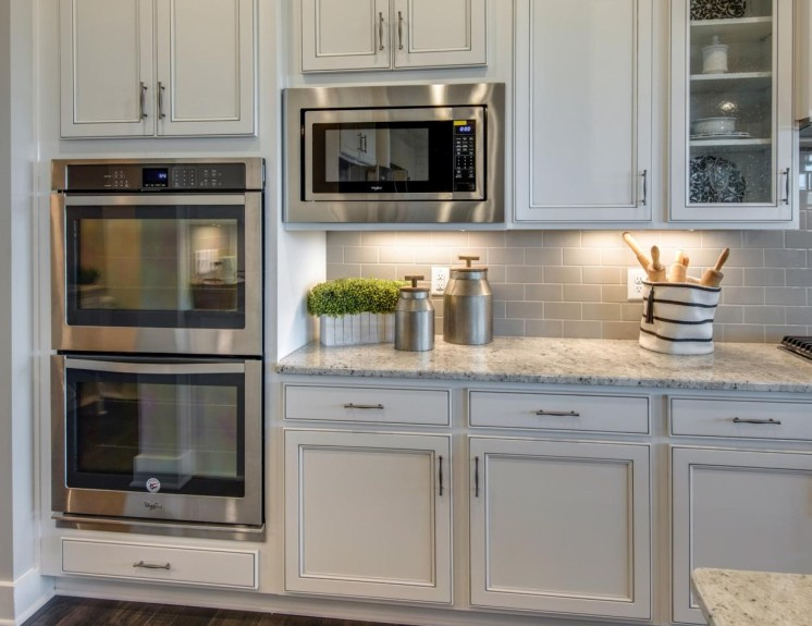 Double wall ovens and microwave