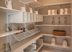 Pantry with adjustable shelving and cubbies