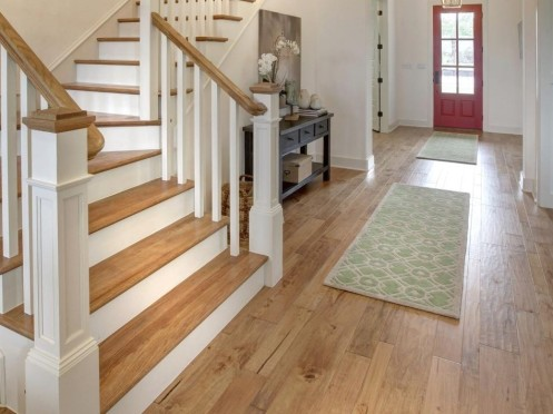 Wood floor and stairway