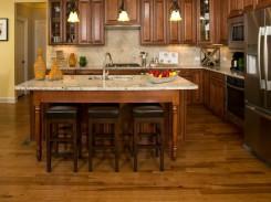 Wood flooring in kitchen