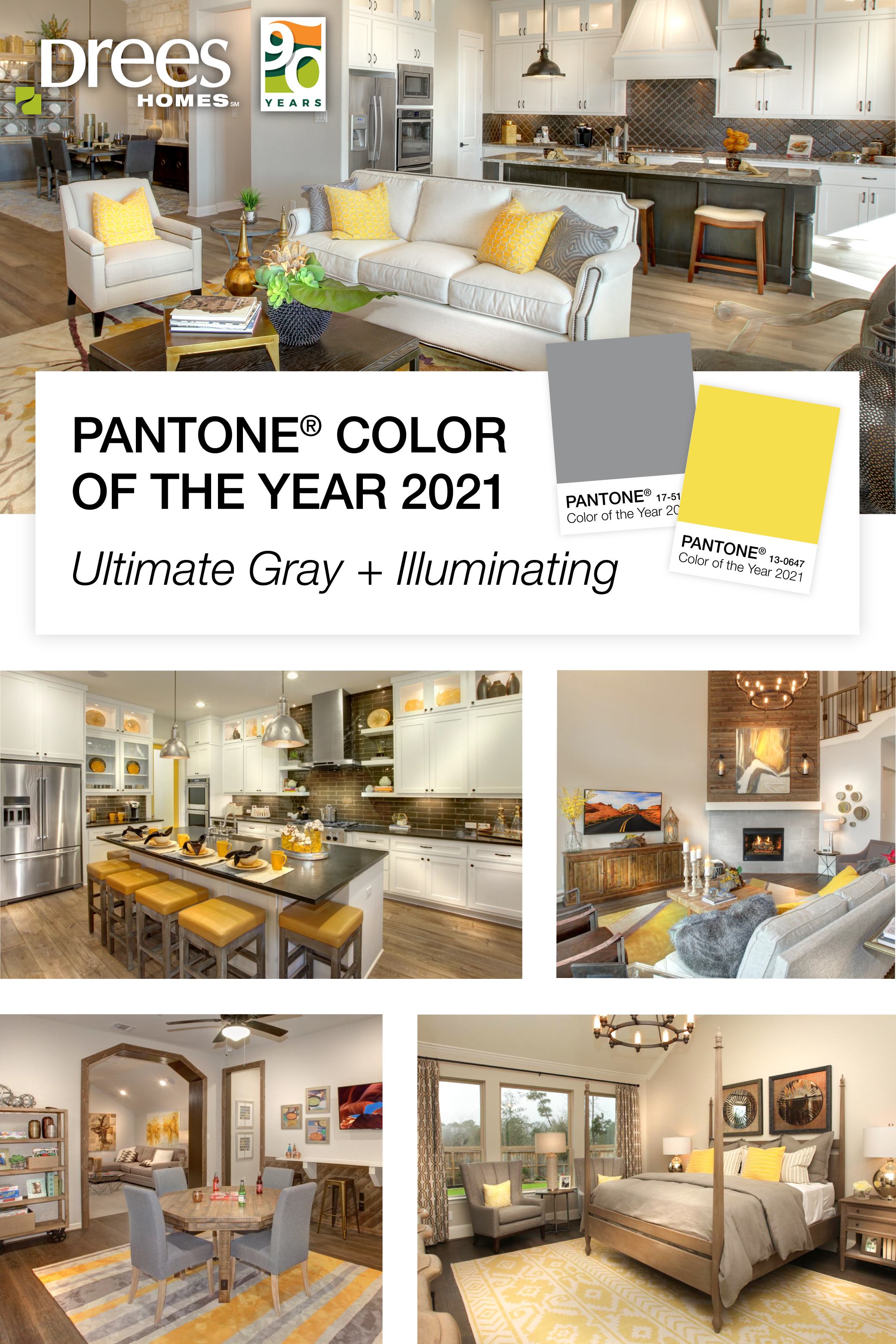 Pinterest Pin | Drees Homes | Pantone Color of the Year 2021