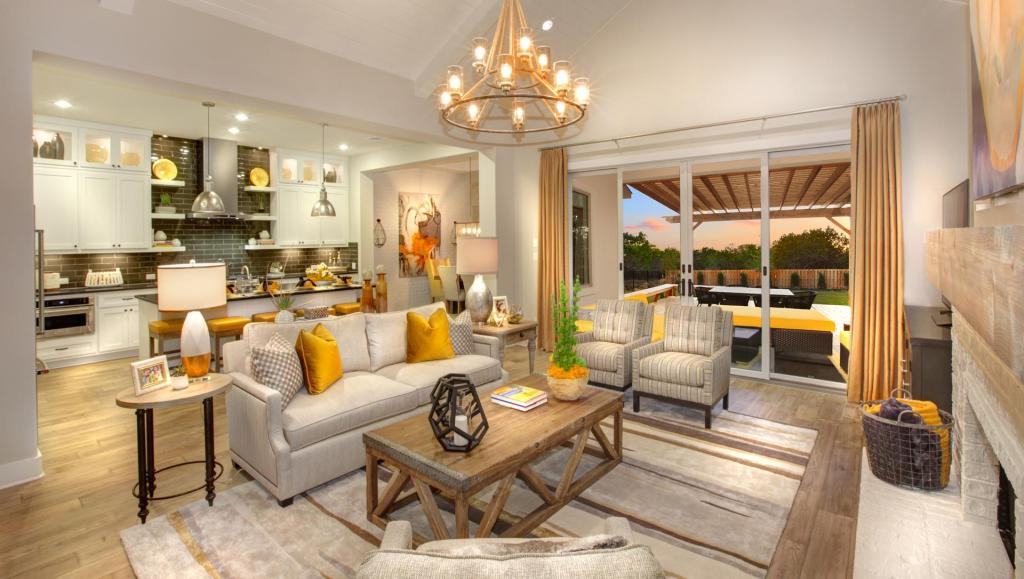 Drees Homes Family Room | Pantone Color of the Year 2021